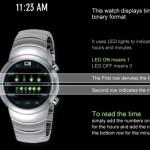 01 binary watch lettura